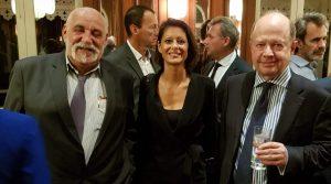 Christian Chevrier en compagnie de Jacques Lapouge et de Nathalie Delveaux
